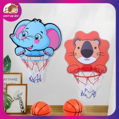Bộ đồ chơi bóng rổ treo tường, bảng ném bóng rổ dán tường mini cho bé vui chơi trong nhà