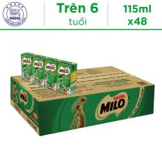 Thùng 48 Hộp Thức Uống Lúa Mạch Uống Liền Nestlé MILO 115ml – 12 lốc x 4 hộp x 115ml