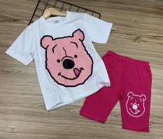 Bộ ngố thun cotton in hình hoạt ình siêu xinh size đại cho bé lớn từ 22 đến 40kg – Bộ quần áo trẻ em