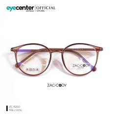 Gọng kính cận unisex nam nữ chính hãng zac & cody mắt tròn nhiều màu lõi thép chống gãy, chân kính chất liệu nhựa dẻo, giúp bám tai tốt và không gây khó chịu khi đeo lâu
