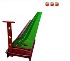 Thảm tập golf trong nhà PGM – Chất liệu khung Gỗ sồi Nga loại 3m- có rãnh trả bóng về – THẢM TẬP THEO TIÊU CHUẨN SÂN GOLF Tặng kèm 03 bóng tiêu chuẩn