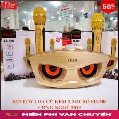 Loa Bluetooth Karaoke hình mắt cú SD-306 Tặng 2 mic Karaoke không dây STEREO ẤN TƯỢNG.bảo hành 1 đổi 1