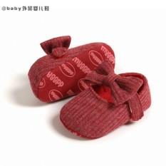 Giày tập đi đế mềm chống trượt đính nơ cài xinh xắn cho bé gái