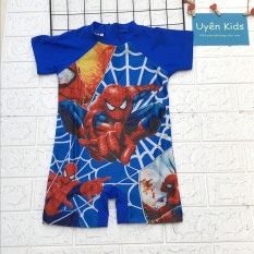 Bộ bơi bé trai cao cấp in hình người nhện 3d