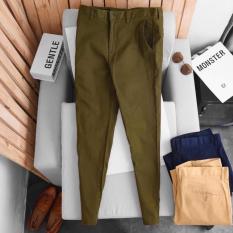 Quần kaki nam co giãn đen dài ống côn cao cấp Hàn Quốc màu đen xanh rêu xanh than xám nâu bò chất vải kaki co giãn 4 chiều thoải mái form slimfit ôm dáng thời trang cao cấp Hàn Quốc