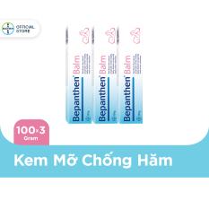 Combo 3 Kem chống hăm Bepanthen Balm dạng kem mỡ 100g/tuýp