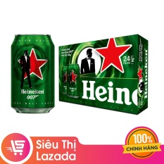Thùng 24 lon bia Heineken James Bond 330ml