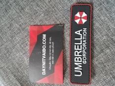 Miếng dán logo sticker patch velcro bằng nhựa PVC cờ Mỹ dán trang trí balo lính áo lính