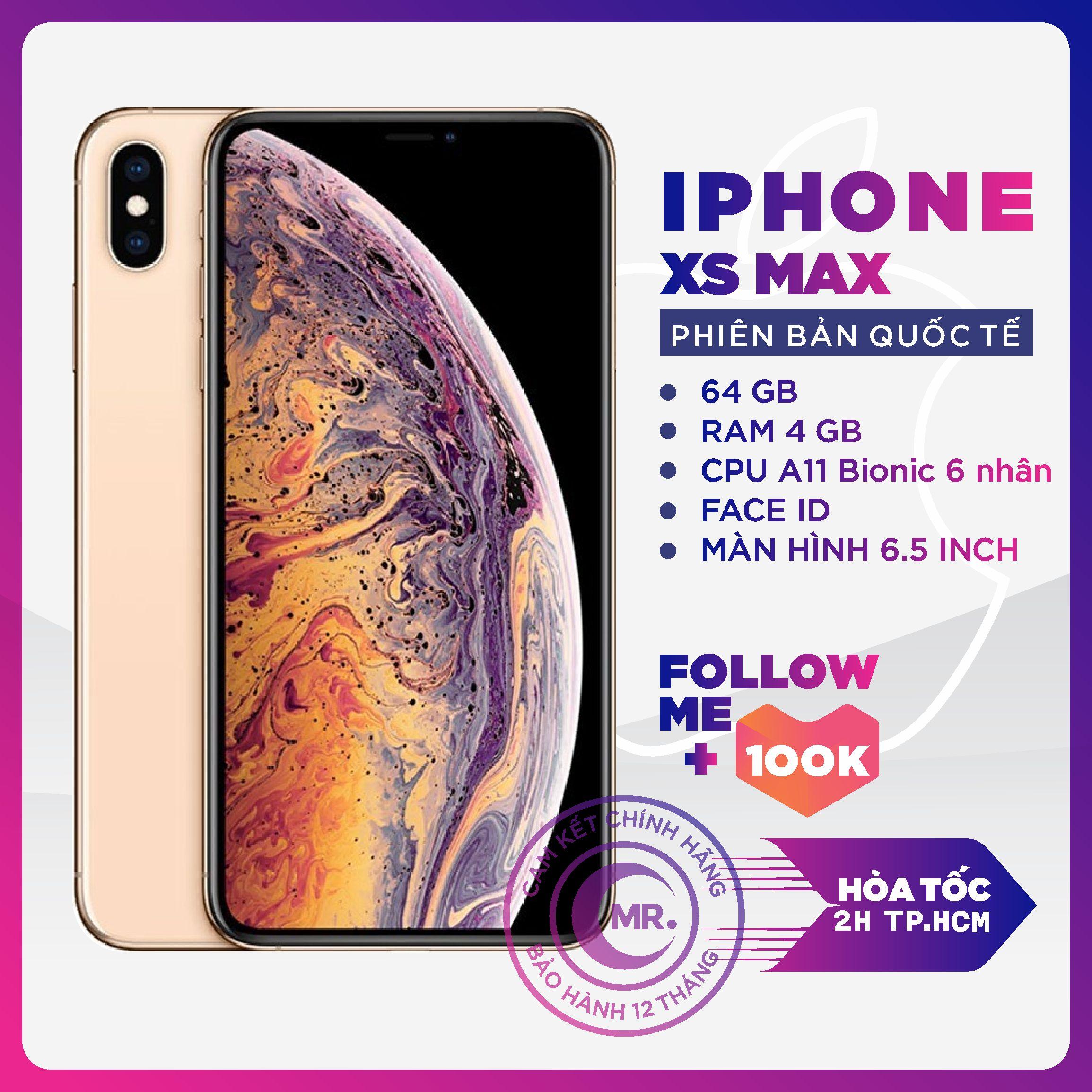Điện thoại Apple iPhone XS MAX 64GB/256GB Máy Quốc Tế Đẹp Keng 99% Pin cao trên 90% hỗ trợ trả...