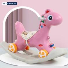 Ngựa bập bênh kết hợp chòi chân có nhạc RK-524 – xe chòi chân, xe tập đi, xe đẩy, xe thăng bằng, do choi tre em