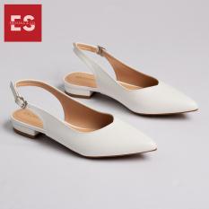 Giày nữ, giày cao gót slingback Erosska mũi nhọn cao 2cm thời trang kiểu dáng basic – EL001 (WH)