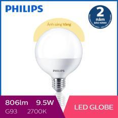 Bóng đèn Philips LED Globe 9.5W 2700K G93 E27 (Ánh sáng vàng)
