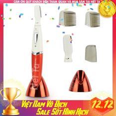 Máy cạo tỉa lông mày du lịch nhỏ gọn Kemei KM-8188 dùng pin tiện lợi tỉa lông toàn thân, lông tay, lông chân, lông nách, vùng bikini có đế cất giữ