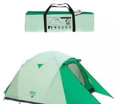 Lều dã ngoại mái vòm Bestway 68046, DÀNH CHO 3 NGƯỜI KT 1.8m x 2m x 1.25m. Vải 190T Polyester chống thấm, lý tưởng để cắm trại . Loại khung bơm hơi.