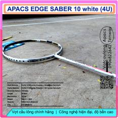 Vợt cầu lông Apacs Edge Saber 10 – 4U – sắc trắng bạch mã hoàng tử