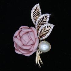 Cài áo hoa hồng vải Hàn Quốc 2018