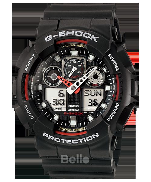 Đồng hồ Casio G-Shock Nam GA-100-1A4DR chính hãng chống va đập – Bảo hành 5 năm – Pin trọn đời