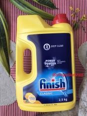 Bột rửa chét bát Finish Classic Hương Chanh 2.5kg Chuyên Dùng Cho Máy Rửa Chén Bát, sx: 04.2020