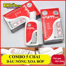 Combo 5 chai dầu nóng Hàn Quốc
