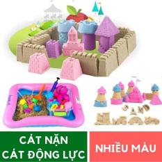 Bộ đồ chơi Cát an toàn tạo hình Cung điện: Bể hơi + Cát + Khuôn chơi cho bé