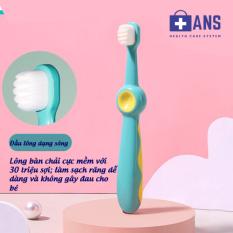 Bàn chải đánh răng trẻ em cao cấp cho bé 1-2-3-4-5-6-7-8-9-10-11-12 tuổi lông mềm, chống trơn trượt