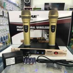[Sale 50%]Mic Hát Karaoke, Bộ 2 Micro Không Dây Và Đầu Thu SHURE SH-300G,BỘ 2 Micro không dây THÂN NHÔM KÈM ĐẦU THU Shure SH-300G dành cho karaoke gia đình, thiết kế bắt mắt, âm thanh dày tiếng, hút mạnh, hát cực nhẹ