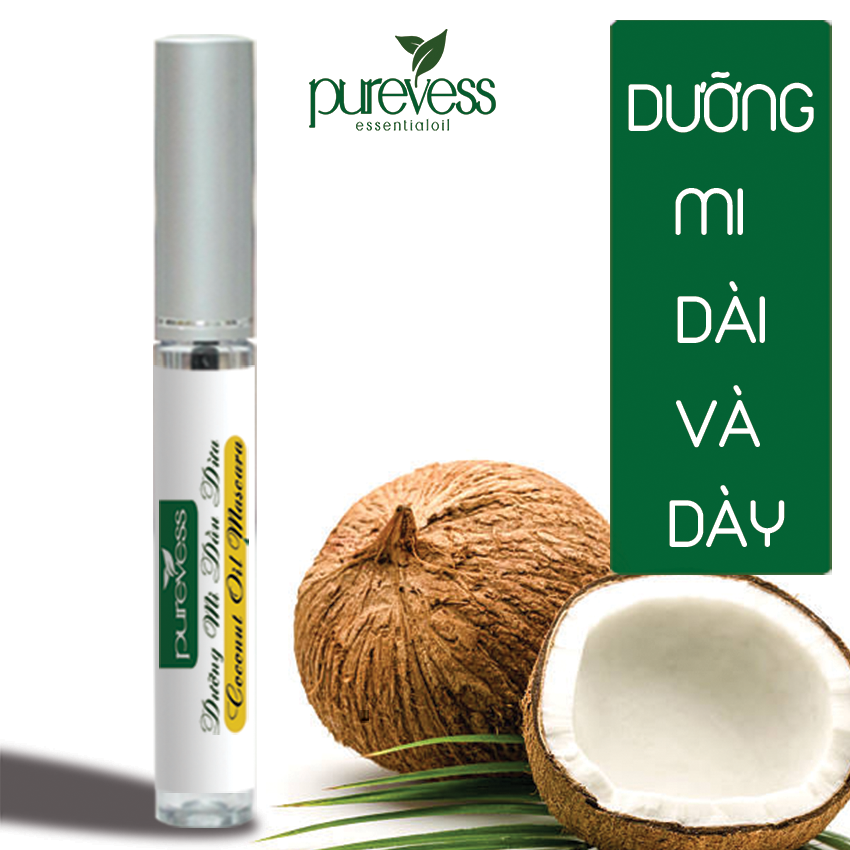 Mascara dưỡng mi dầu dừa Purevess 8ml giúp mi dài và dày.