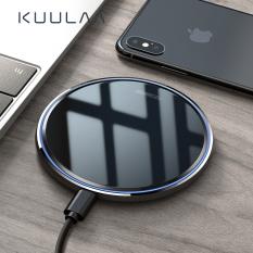 KUULAA Sạc không dây 10W, nhanh, tráng gương cho iPhone Samsung Huawei Xiaomi Android iphone 11 pro max iPhone 12 pro max / 12 mini / 12 (không bao gồm dây sạc) – INTL