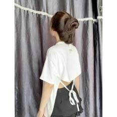 Áo kiểu form rộng hở lưng cột dây siêu hot , chất thun coton tici dày dặn mềm mịn