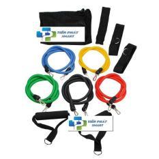Bộ 5 dây đàn hồi tập thể hình cao cấp – dụng cụ tập gym – thể thao
