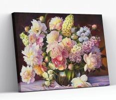 Tranh sơn dầu số hóa tự tô có khung RA3284 lọ hồng phấn