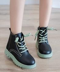 Giày bốt cho bé gái khóa kéo dễ thương, da mềm , đế êm, phong cách hàn quốc HQ38