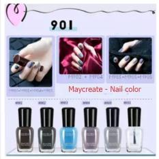 Sét 6 lọ sơn móng tay MayCreate nhanh khô- mã 901