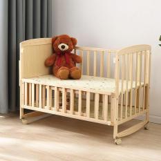 Cũi trẻ em + TẶNG KÈM: Màn chống côn trùng (CÓ BÁNH XE, 2 TẦNG, DÀI 100CM), giường cho bé, cũi gỗ trẻ em, nôi cho bé, nôi trẻ em,cũi gỗ cho bé, 2 tầng, HONA SMART