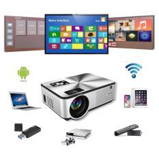 Máy chiếu mini projector Cheerlux C9 HD 1280x720p, HĐH Android 6.0, kết nối Wifi Bluethooth, độ sáng 2800 lumens, âm thanh hay, xem 100 inch cực nét, phù hợp thay thế TV trong phòng ngủ.