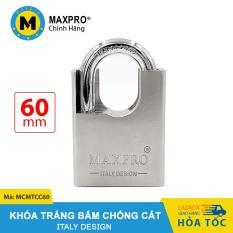 Ổ Khóa Bấm Chống Cắt Chìa Muỗng MAXPRO Trắng 60mm – MCMTCC60