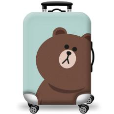 [Lấy mã giảm thêm 30%]Túi bọc bảo vệ vali -Áo vỏ bọc vali – Gấu Nâu H108 Size S M L XL HPValiOEM