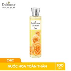 [TẶNG Combo 2 quà Nước hoa+Xà bông đơn 219K] Nước hoa toàn thân cao cấp Enchanteur hương Chic 100ml