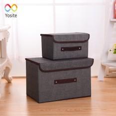 [ Giá tốt hàng đẹp ] Bộ 2 hộp vải khung cứng , tủ vải khung cứng, hộp chứa đồ xinh xắn, vải canvas bền dày đựng đồ tiện lợi, tiết kiệm không gian