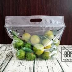 Túi zipper quai xách đựng rau củ quả 27x32cm – 50 túi