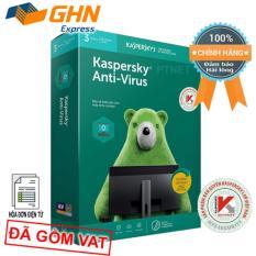 Phần mềm Kaspersky Anti Virus 3PC box phân phối bởi Nam Trường Sơn, gói tiết kiệm, bảo mật thiết yếu cho 3 máy tính (Hộp Xanh lá)