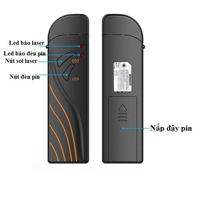 Bút soi quang pin sạc 15KM