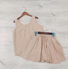 Set bộ áo cổ tim quần ống rộng mát mẻ mùa hè