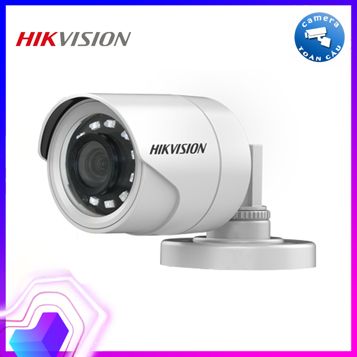 Camera HD-TVI Hikvision DS-2CE16D0T-IRP 2.0MP HD1080p, cảm biến CMOS 2Mp, 24 bóng LEDs, hồng ngoại 20m, hình trụ hồng ngoại ngoài trời, cắt lọc hồng ngoại