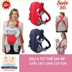 [SALE SỐC ĐẾN 50%] – Đai địu em bé 4 tư thế – Đai bế em bé – Đai địu em bé cao cấp – Có thể đỡ cổ – chống gù lưng – với chất vải lưới thoáng mát và co giãn. BH 1 ĐỔI 1 CHỈ CÓ TẠI Minh Châu Store