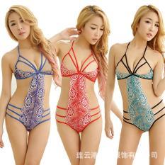 Bộ bikini ren dây hoa văn sexy – 345