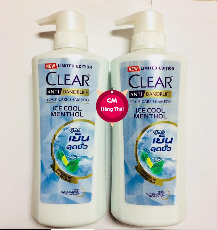 [ MẪU MỚI 2020 ] Combo 2 Chai Dầu Gội Sạch Gàu Clear BẠC HÀ Thái Lan