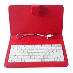 Bao da kiêm bàn phím cho điện thoại, máy tính bảng 7 inch – Bx Electronics (Đỏ)