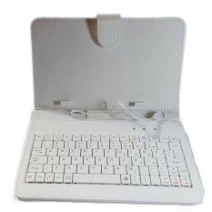 Bao da kiêm bàn phím cho điện thoại, máy tính bảng 7 inch – Bx Electronics (Trắng)