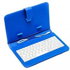 Bao da kiêm bàn phím cho điện thoại, máy tính bảng 7 inch – Bx Electronics (Xanh)